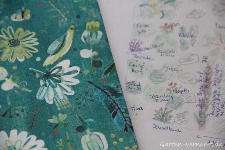 Gartenbuch mit Pflanzplänen der vrgangenen Saison