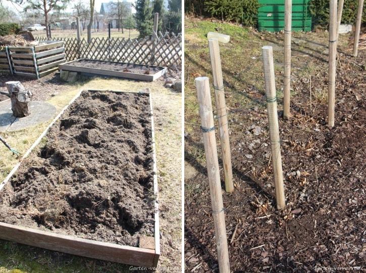 Erste Arbeiten im Gemüse- und Obstgarten