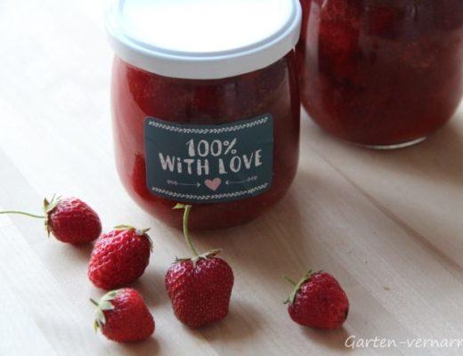 Erdbeer-Rhabarber-Marmelade - ein Rezept