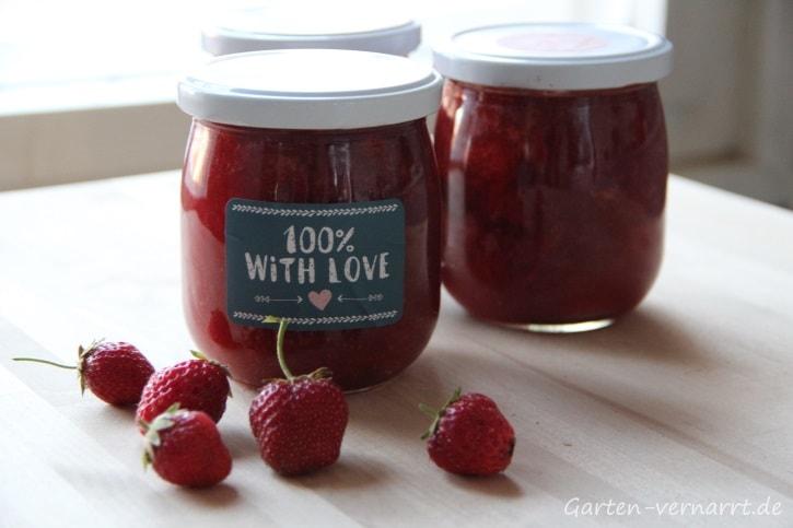Rezeptvorschlag für Erdbeer-Rhabarber-Marmelade