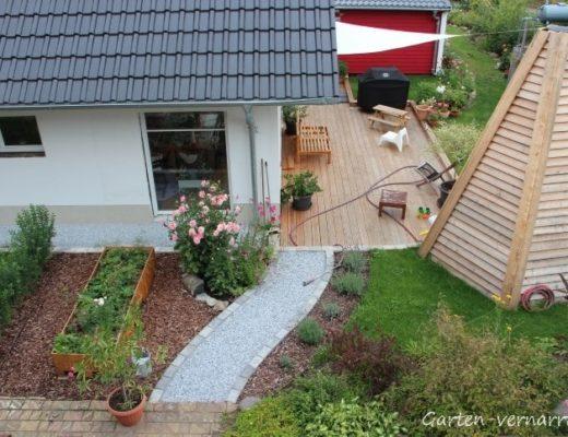 Einen Neubau in einen bestehenden Garten etablieren